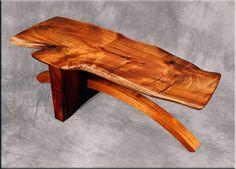 """River Bridge"" koa wood coffee table by Robert Lippoth Studio"