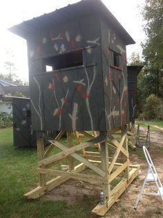 Diy 4x6 deer blind myoutdoorplans free woodworking for 4x6 shooting house plans