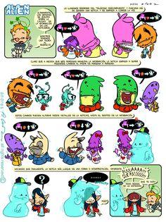 Alan Alien - Pagina 23 - Publicada en la revista infantil PIN - Guion & Arte (realizado de forma digital)