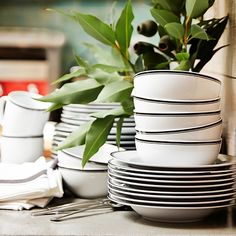 Williams-Sonoma Open Kitchen Bistro Dinnerware Collection | Williams-Sonoma Would love these in Navy!