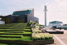 By Alvar Aalto. In Seinäjoki, Finland