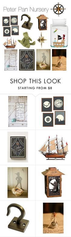 Peter Pan Nursery by krisannebaker on Polyvore featuring interior, interiors, interior design, home, home decor, interior decorating, Disney and Jellycat