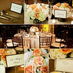 Love the blush details mixed with the dark wood - Shang Chen Photography  #septemberwedding #fallwedding #tablescapes #bostonwedding