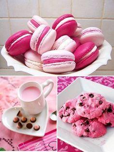 Everything pink.