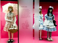 Sweet Lolita costumes at the V museum in London. Photo by alphacityguides.