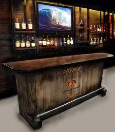 home bar custom hand built rustic whiskey pub man cave barn