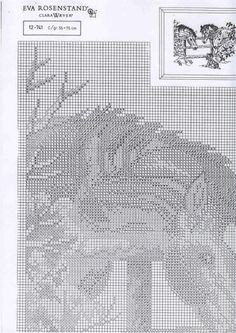 3 ponies and a dog #2 counted cross stitch pattern 001