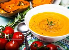 Roasted Squash, Tomatoes and Rosemary Soup @HemsleyHemsley