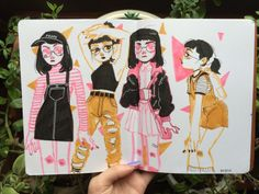 Journal FAQ Me in some of my favorite clothes, pages 57 & in some of my favorite clothes, pages 57 & 58 Pretty Art, Cute Art, Alphonse Mucha, Art Sketches, Art Drawings, Posca Marker, Arte Fashion, Posca Art, Arte Sketchbook
