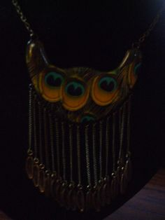 Peacock Feather Tassel Design Necklace by PAULIE22 on Etsy, $3.95