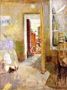 Vuillard and his Open Door from the turn of last century. Surely it can be said of this painting… visual poetry. Nothing is important save the spiritual state that enables one to subjectify one's thoughts to a sensation and to think only of the sensation, all the while searching to express it. - Edouard Vuillard