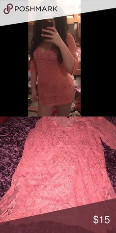 Sexy Short Bikini Cover Up Perfect condition, coral pink jcpenney Swim Coverups