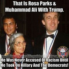 My GREAT president Donald J. Trump, with my heroine Rosa Parks together! Donald Trump, Trump Is My President, 2016 President, Greatest Presidents, Rosa Parks, Conservative Politics, Truth Hurts, God Bless America, In This World