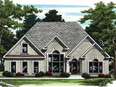 New American House Plan with 2512 Square Feet and 3 Bedrooms(s) from Dream Home Source | House Plan Code DHSW01683