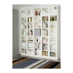 From a single bookcase to a wall-to-wall library, the IKEA BILLY bookcase system has it covered. It comes in different heights, widths and finishes, with adjustable shelves to suit all sizes of books, (Top Design Ikea Hacks) Deco Design, Design Case, Libreria Billy Ikea, Ikea Billy Bookcase, Bookcase White, Build In Bookshelves, Bookshelf Wall, Billy Oxberg, Home Theaters