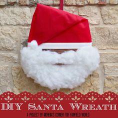 Fluffy Santa Wreath