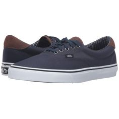 5ef8139536 Vans Era 59 ((Cord   Plaid) Dress Blues True White) Skate
