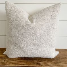 HALLIE || Natural Bouclé Pillow Cover - 8x16 / No Insert (Cover Only)