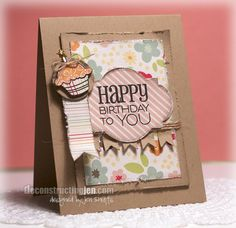 Birthday card by Jen Shults using stamps and dies from Verve Stamps. #vervestamps