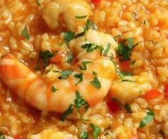Pasta Recetas Camarones 26 Ideas For 2019 Curry Recipes, Rice Recipes, Cooking Recipes, Healthy Recipes, Seafood Casserole Recipes, Seafood Recipes, Rissoto, Spanish Dishes, Rice Dishes
