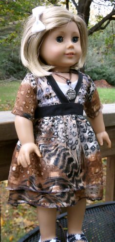 a023ef72f American Girl Doll Clothes Trendy Animal Print Dress with