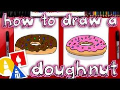 How To Draw A Doughnut - Art For Kids Hub -