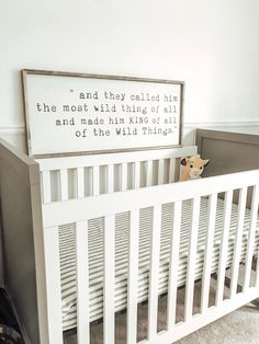 Do It Yourself nursery and also baby room decorating! Ideas for you to create a little paradise in the world for your little package. Lots of baby room decor ideas! Playroom Signs, Nursery Signs, Nursery Ideas, Baby Boy Nursery Decor, Nursery Themes, Baby Boy Rooms, Baby Boy Nurseries, Kids Rooms, Kids Bedroom
