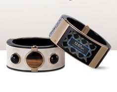 Intel MICA smart bracelet jewelry Opening Ceremony line black snakeskin…