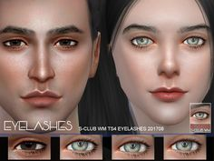 Sims 4 CC's - The Best: S-Club WM ts4 eyelashes 201708