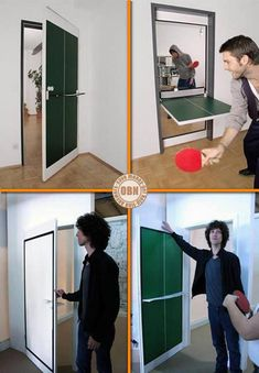 "Don't have a games room, but long for a ping pong table? The simple solution is to put one in your door! The Ping Pong Door functions just like any ordinary door except there's an inner panel that flips down to make a ping pong table. For more ideas teens will surely enjoy, view our ""Teen Dreams"" album on our site at http://theownerbuildernetwork.co/ideas-for-your-rooms/bedrooms-gallery/teen-dreams/ Would you like one in your house?"