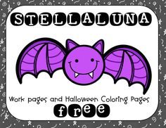 Free printable to accompany STELLALUNA, a wonderful picture book about a bat