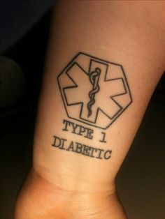 Medical Alert: Type 1 Diabetic Tattoo done by Brian at Cynical Tattoo in Tuscaloosa, AL