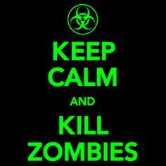 keep-calm-kill-zombies T-Shirt  Funny geek nerd cool retro tshirt