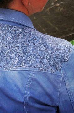 DIY Tattooed Denim Jacket.