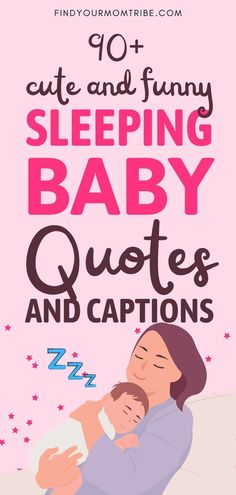 Ranging from funny to super-cute, these sleeping baby quotes will definitely make your day and give you plenty of ideas for amazing captions! Sleeping Baby Quotes, Newborn Baby Quotes, Cute Baby Quotes, Sleeping Boy, Baby Girl Quotes, Son Quotes, Daughter Quotes, Happy Quotes, Funny Babies