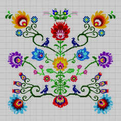 This Pin was discovered by Ayş Cross Stitch Pillow, Cross Stitch Bird, Cross Stitch Flowers, Cross Stitch Designs, Cross Stitching, Cross Stitch Embroidery, Embroidery Patterns, Cross Stitch Patterns, Ribbon Art