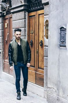 Men street style #beardedman #men