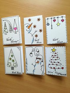 christmas cards handmade kids - christmas cards ` christmas cards handmade ` christmas cards diy ` christmas cards ideas ` christmas cards kids ` christmas cards to make ` christmas cards handmade kids ` christmas cards handmade diy Christmas Doodles, Christmas Card Crafts, Homemade Christmas Cards, Homemade Cards, Handmade Christmas, Christmas Ideas, Cute Christmas Cards, Diy Holiday Cards, Christmas Christmas
