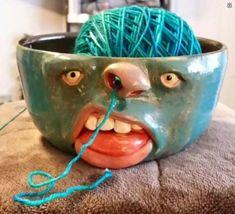 un petit pot a laine bien rigolo