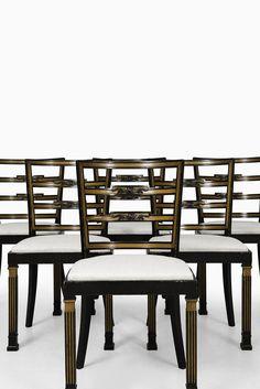 Erik Chambert set of 6 dining chairs at Studio Schalling