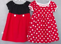 Mickey & Minnie inspired toddler dresses