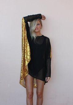 GOLD SEQUIN BACK ALEXANDRA #glitter
