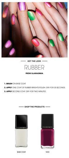 Beauty HOW TO: Rubber Nails courtesy of Illamasqua #Sephora #SephoraNailspotting #nails #nailart