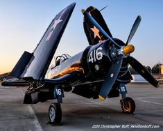 Corsair at Twilight by Chris Buff on beautiful shot of a great warbird. Navy Aircraft, Ww2 Aircraft, Fighter Aircraft, Military Aircraft, Ww2 Fighter Planes, Air Fighter, Fighter Jets, Ww2 Planes, Vintage Air
