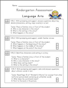Common Core Assessment for Kindergarten