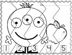 9 Autumn/Halloween Number Order Puzzles B&W {FREEBIE