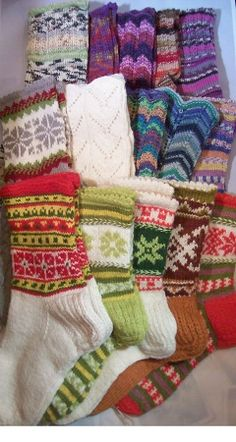 Hand Knitted Socks from Latvia
