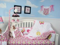 Amazon.com : SoHo Little Lady Baby Crib Nursery Bedding Set 13 pcs included Diaper Bag with Changing Pad & Bottle Case : Baby Bedding Crib Sets Girl : Baby