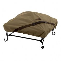 Classic Accessories Hickory 40-In Tan Square Firepit Cover 55-200-012401-Ec Square Fire Pit Cover, Fire Cover, Set Cover, Cover Size, Fire Pit Gravel, Fire Pit Patio, Outdoor Fire, Fire Pits, Outdoor Gear