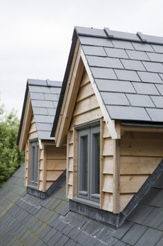 We really like the look of these type of pitched dormer windows on the rear of the house House Cladding, Timber Cladding, Exterior Cladding, Dormer Roof, Dormer Windows, Bungalow Extensions, House Extensions, Dormer Bungalow, Border Oak